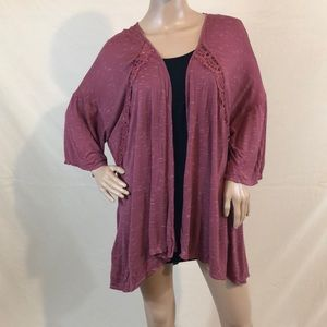 H.I.P. dusty-rose colored cardigan